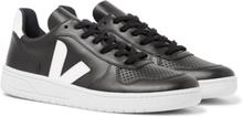 Veja - V-10 Rubber-trimmed Leather Sneakers - Black