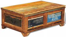 vidaXL Sohvapöytä säilytysosastolla vintagetyyli Kierrätetty puu