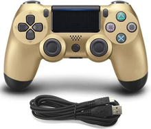 Gamepad kultaa Sony playstation4 / PS4 konsolille - Kaapeli kytketty