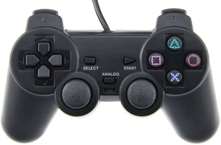 Controller til Playstation 2 (Sort)