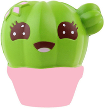 Jumbo Cute Cactus Squishy Simulation Plant Slow Rising Soft Squeeze Toy Cream Scented Stress Relief for Kid Xmas Fun Gift