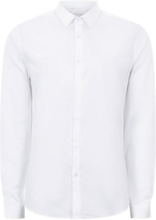 TOPMAN PREMIUM White Slim Smart Shirt