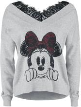 Mickey Mouse - Minnie Mouse -Collegegenser - gråmelert