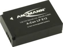 Ansmann A-Can LP-E12 Kamerabatteri Ersättning originalbatteri LP-E12 7.4 V 750 mAh