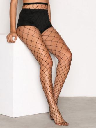 Strømpebukser - Svart NLY Lingerie Big Fishnet Tights