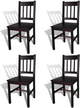 vidaXL Ruokapöydän tuolit 4 kpl tummanruskea mänty