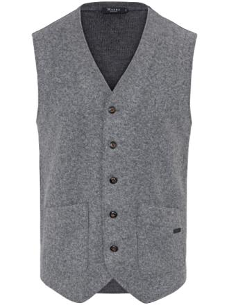 Väst i 100% ren ny ull från MAERZ Muenchen grå