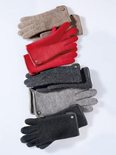 Handsker 100% ren ny uld Fra Roeckl rød