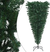 vidaXL Uppochnedvänd plastgran med stativ grön 180 cm