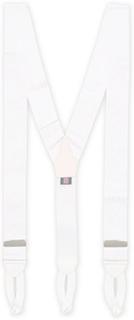 Seler von Albert Thurston. Grösse: One size. Farbe: Hvid. Albert Thurston Moire Braces 40 mm White