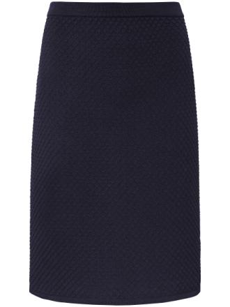Stickad kjol från Peter Hahn blå