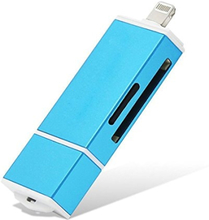 Minnekortadapter for iPhone, iPad, Android - for MicroSD / SD-kort - gull