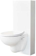 Svedbergs Glasbox, 120 mm, utanpåliggande fixtur till vägghängd toalett - Vitt glas