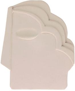 Face väggdekoration medium Creme