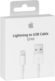 Apple Lightning kabel, USB till Lightning, 2m, vit, MD819ZM/A (Blister)