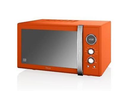 Svane Retro 25L Digital Combi mikrobølgeovn med Grill - Orange 900w...