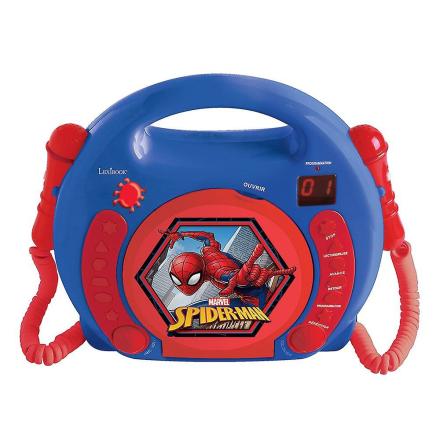 LEXIBOOK Marvel CD-afspiller med 2 mikrofoner Spider-Man (Best.nr. ...