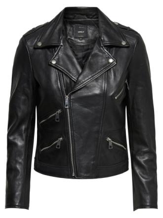 ONLY Biker Leather Jacket Women Black