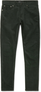 Slim-fit Stretch-cotton Corduroy Trousers - Green