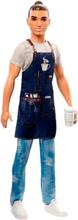 Barbie Ken Career Barista Docka