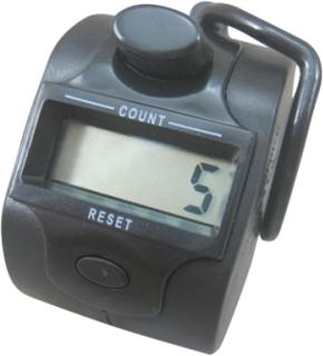 Handräknare med digitalt femsiffrigt räkneverk, Svart