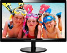 Philips V-line 246V5LSB, 24 LED-monitor, FullHD, 5ms, VGA, DVI, svart