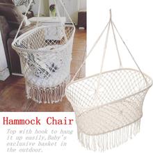 Cotton Rope Tassel Hammock Chair Swing Hammock Children Rocking Sleep Bed Indoor Outdoor Hanging Sest Child Swing Seat