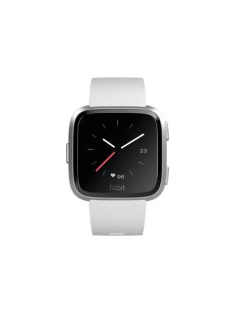Versa Lite Edition - silver aluminium - smart watch with band - white