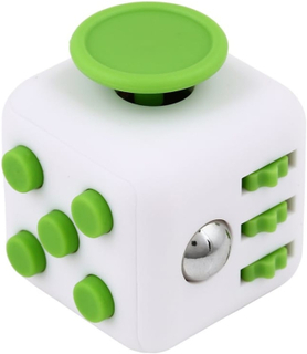 Fidget Cube, för ökad koncentration, Vit/Grön