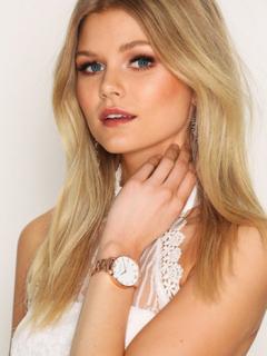 Olivia Burton White Dial Bracelet Ure Roséguld