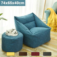 Waterproof Bean Bag Lazy Sofa Beanbag Sofas Indoor Seat Chair Cover Large Bean Bag Cover Armchair Washable Room Furniture