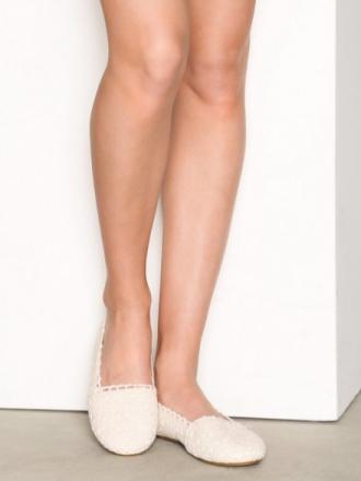 Ballerina - Offwhite NLY Shoes Crochet Ballerina