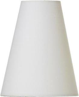 Lampskärm Tulpan beige, klämfäste E14, 22cm hög