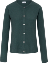 Kofta i 100% ren ny ull, Biella Yarn från Peter Hahn grön