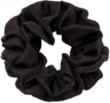 Hermine Hold Solid Scrunchie Black