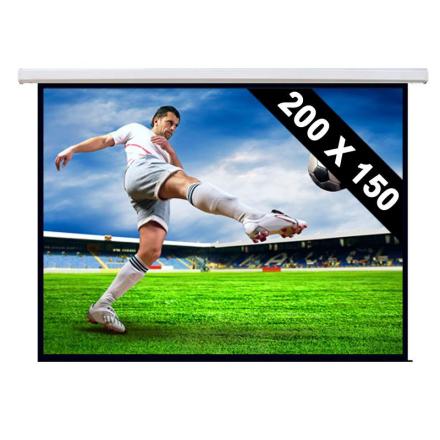 Roll-up projektionsduk hemmabio projektor HDTV 200x150cm 4:3