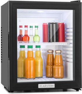 MKS-12 Minibar 24 Liter Klass B svart Glas 0dB