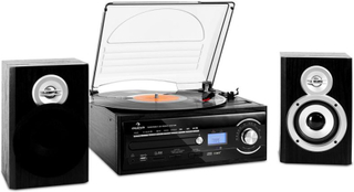 TT-190 stereoanläggning skivspelare MP3 CD-spelare USB