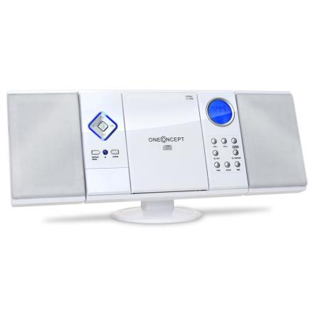 V-12 stereo MP3-CD-spelare USB SD AUX vit