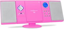 V-12 Stereoanläggning MP3-CD-spelare rosa USB SD
