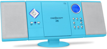 V-12 stereo MP3-CD-spelare USB SD AUX blå