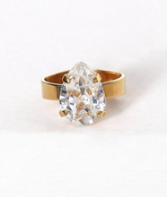 Caroline Svedbom Mini drop ring Crystal