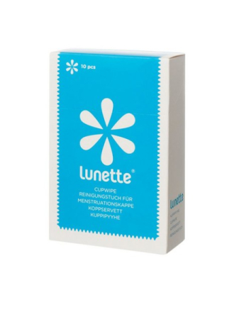 Lunette Cup Wipes 10 pcs Transparent