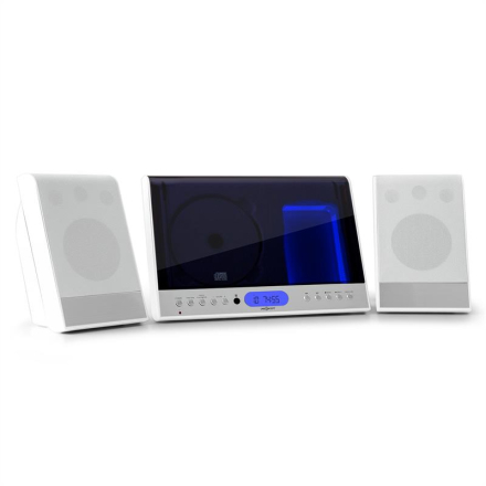 Vertical 90 stereoanläggning CD USB MP3 SD AUX vit