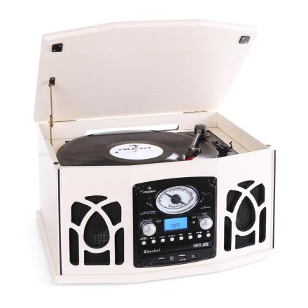 NR-620 Stereoanläggning LP-spelare MP3-inspelning cream