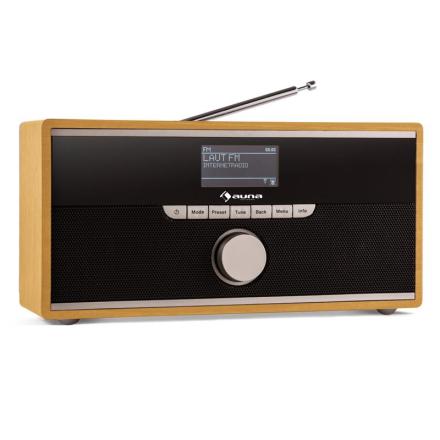Weimar DAB-radio internetradio bluetooth DAB+ FM klockradio bärbar bok