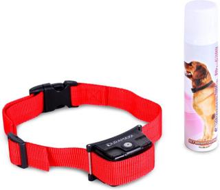 Balu Uppfostringshalsband hund röd inkl. spray