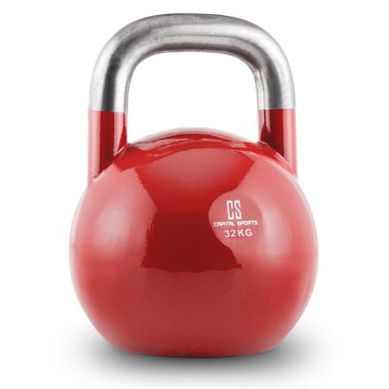 Compket Competition kettlebell kulhantel stål 32kg röd