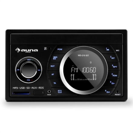 MD-210 BT RDS Autoradio Bluetooth USB SD MP3 Mikrofon 2-DIN 4 x 75 W