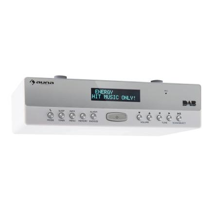 KR-100 DAB Köksradio Hängande DAB+ FM Bluetooth Högtalartelefon Vit